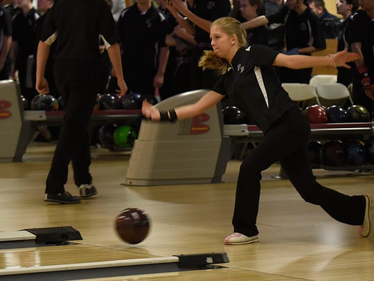 Senior Maddy Vance, who comes from a family of bowlers,
