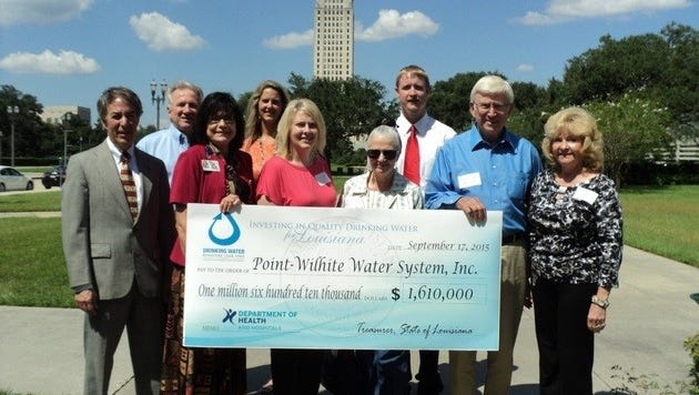 Point Wilhite Water System in Downsville was awarded a $1.6 million loan from the state Department of Health and Hospitals.