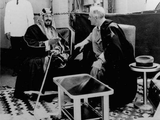 Franklin D. Roosevelt,King Abdul Aziz Ibn Saud