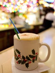 A Tom and Jerry at the Brass Rail is a classic holiday drink.