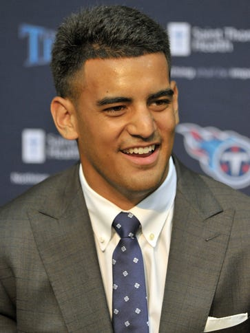 New Titans QB Marcus Mariota isn't exactly stepping