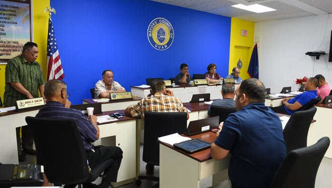The Mayors' Council of Guam held their regular monthly meeting to discuss a range of topics at their conference room in Hagåtña on Dec. 6, 2017.
