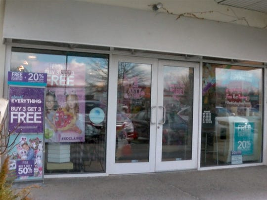 Exterior of the Claire's Cosmetics store in the Brook