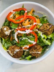 June 22, 2017 - The Asia Salad includes romaine, sesame-crusted