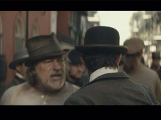 Creek Wilson (left) plays a street fighter who has a confrontation with Adolphus Busch.