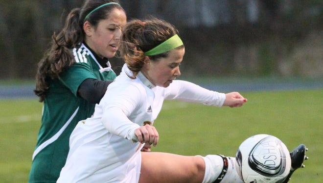 D.C. Everest's Dorene Sanchez, left, was named second team all-state this week by the Wisconsin Soccer Coaches Association.