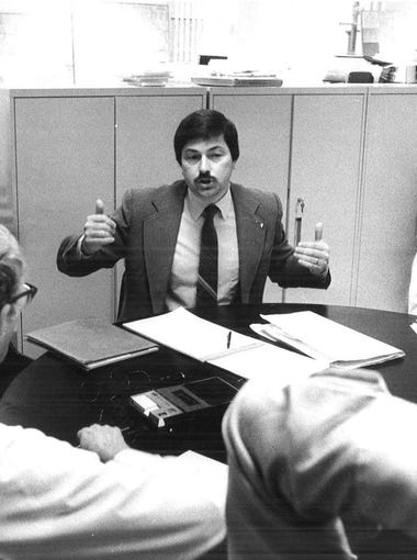 Lt. Gov. Terry Branstad is interviews by members of the Register's staff on Dec. 3, 1981.