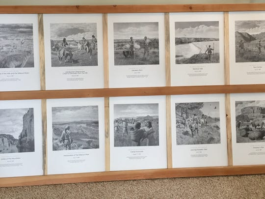 Havre artist Don Greytak donated a set of Lewis & Clark prints for the Old Trail Museum wild game feed fundraiser.