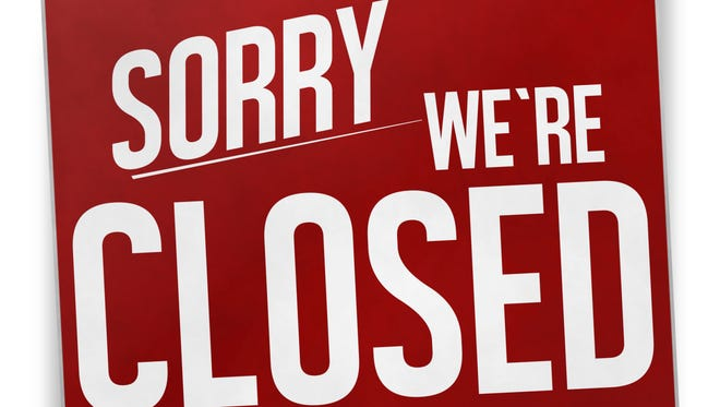 sorry we are closed red sign