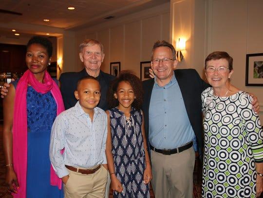 The Engle family -- Merline, John, Laila, and Daniel