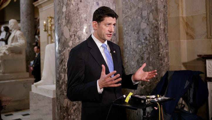 House Speaker Paul Ryan speaks in support of the Republican