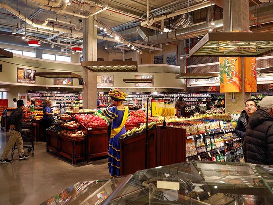 The grand opening of the downtown Kroger store in the