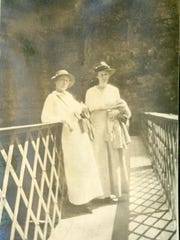 Visitors to Ausable Chasm circa 1910.