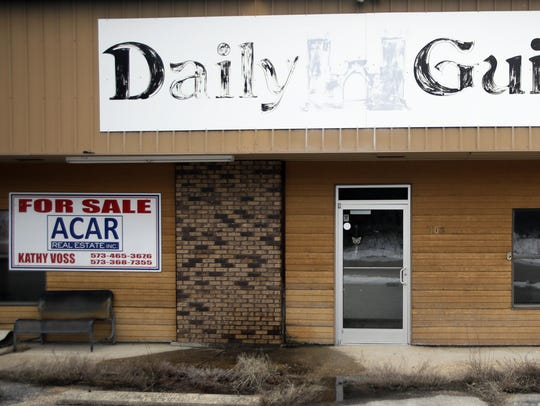 The old Daily Guide office stands for sale in St. Robert,