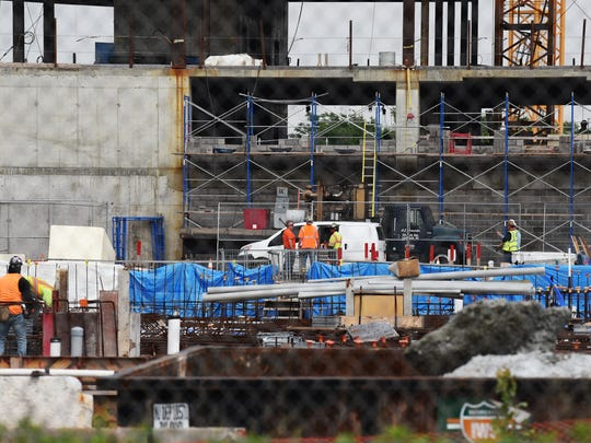 Construction workers have returned to American Dream Meadowlands.