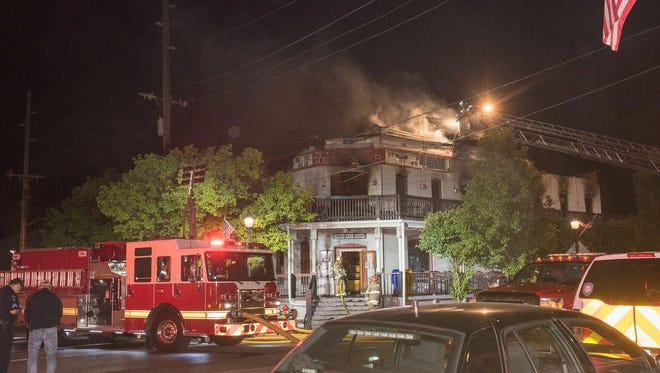 Firefighters were called at about 2 a.m. to a fire at the historic South Lyon Hotel in downtown South Lyon.