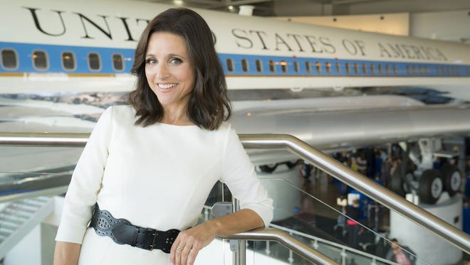 Julia Louis-Dreyfus of HBO's 'Veep' is pictured at the Ronald Reagan Presidential Library in Simi Valley.