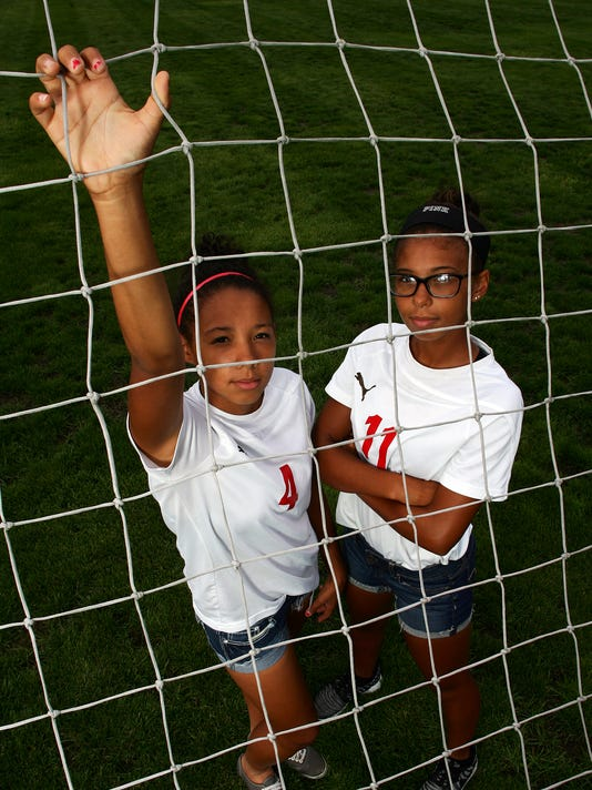 Tyra Woods, left, and Amia Woods are standout soccer players for Coshocton.