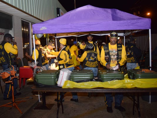 COMMUNITY SNAPSHOT: The Buffalo Soldiers motorcycle club recently held a Bike Night at their clubhouse to help raise funds for community service projects. Proceeds from Bike Night help fund the Buffalo Soldiers' Ride on the Bayou event held in March. Proce