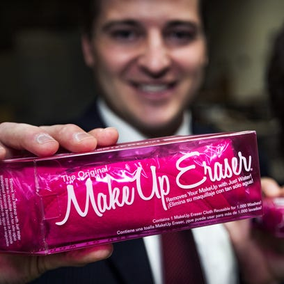 """Lexi McCarthy says she knew the company she created with husband Daniel had made it when their product, the Makeup Eraser, was carried by international cosmetics giant Sephora. """"It validated its performance and made it a prestige beauty product. We turned a huge corner,"""" she says."""
