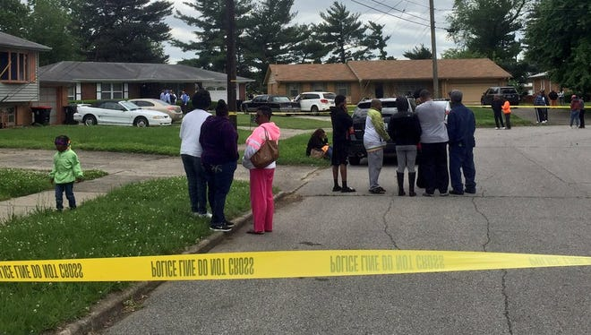 The scene of a death investigation in the Chickasaw neighborhood.
