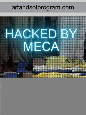 A screen grab of the Art and Sol website in late April showed it had been hacked by MECA, the Middle East Cyber Army. The website has since returned to normal.
