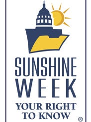 Logo for Sunshine Week, a week dedicated to open government