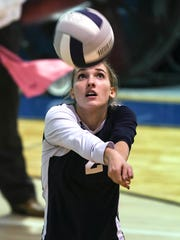 West Shore's Sarah Langenbach passes to a teammate during Tuesday's match in Melbourne.