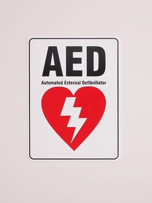 Automatic Electronic Defibrillator sign