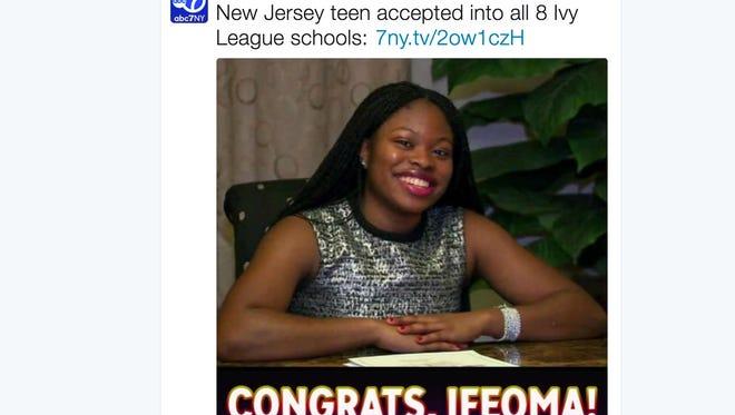 Ifeoma White-Thorpe has a big decision to make, WABC-TV reports.