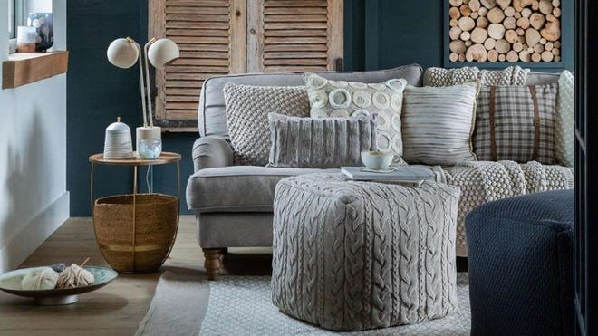 Layering richly textured fabrics creates a welcome home vibe.