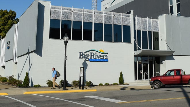 Big Rivers Electric Corporation headquarters is seen here at the corner of Third and Main streets in Henderson.