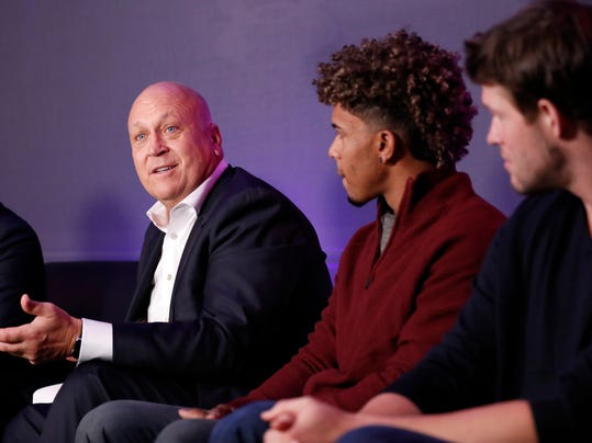 Former Baltimore Orioles player Cal Ripken Jr., speaks during an Under Armour announcement event at Major League Baseball's winter meetings, Monday, Dec. 5, 2016 in Oxon Hill, Md. Under Armour will take over as the supplier of Major League Baseball uniforms in 2020. (AP Photo/Alex Brandon)