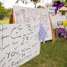 A growing memorial to dogs that died at Green Acre Pet Boarding in Gilbert.