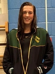 Franklin D. Roosevelt swimmer Amber Diehl at the Section 9 swimming championships.