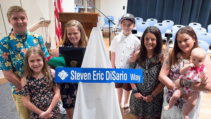 DiSario's alma mater dedicates road, scholarships in his memory