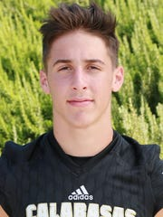 Jaden Casey has completed 84 of 134 attempts for 1,212 yards, 13 touchdowns and five interceptions so far this season for Calabasas.