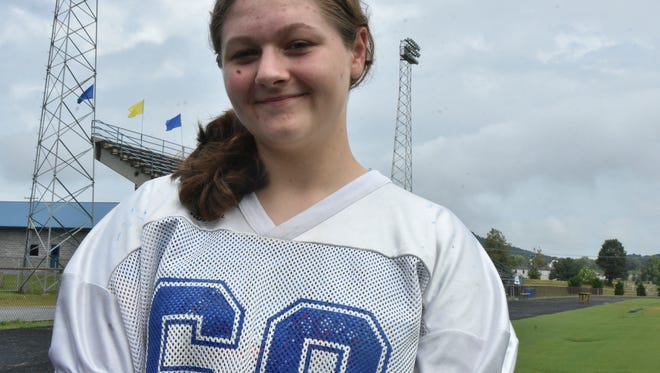 Savannah Blackmore, a sophomore at Shelbyville Central High School, is one of 19 females to play football in the state of Tennessee according to TSSAA. But she is one of only two that play a position other than kicker.