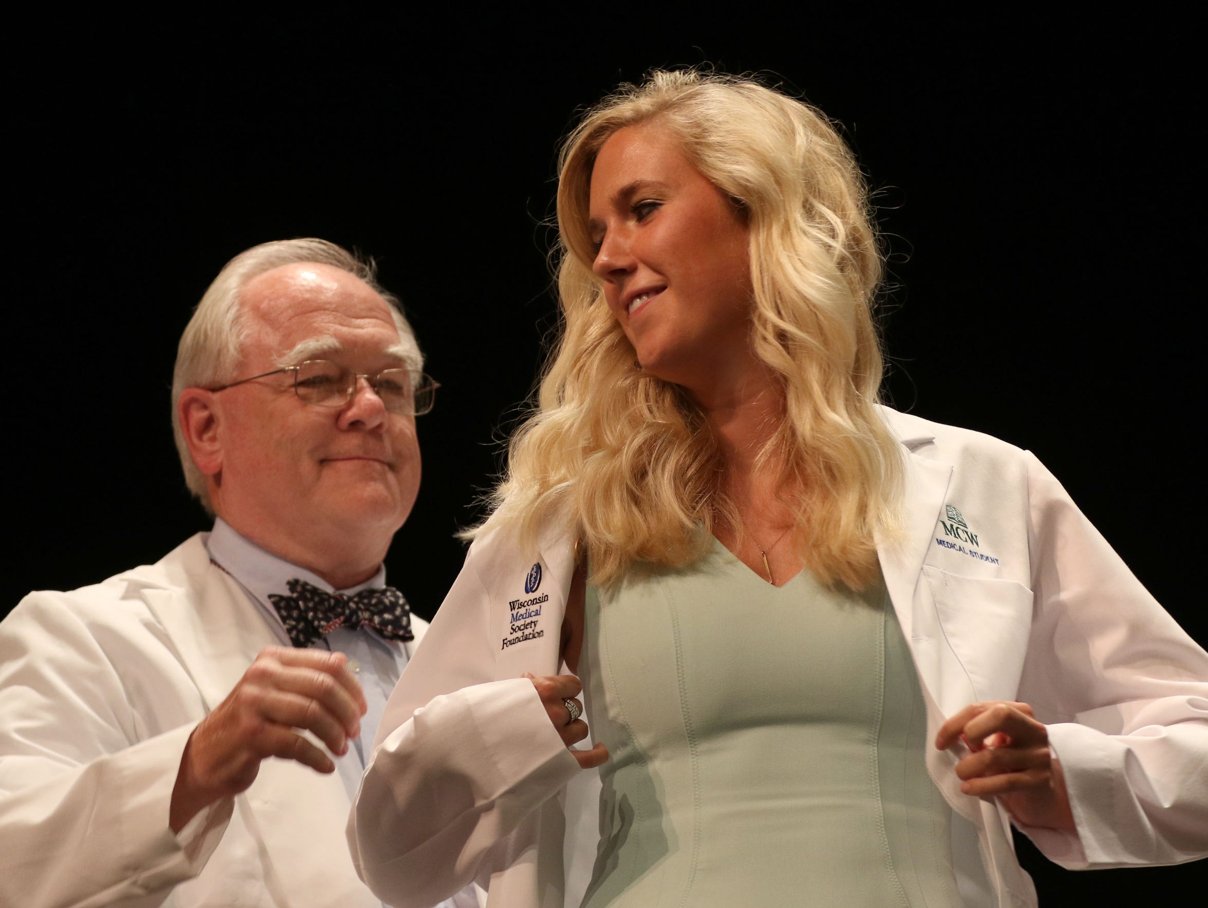 Camilla Dornfeld is coated during the Medical College