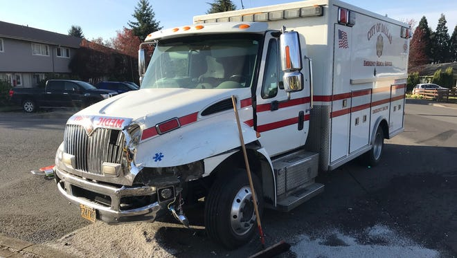 A Dallas Fire & EMS ambulance collided with another vehicle in Dallas around 7:30 a.m. on Thursday, March 29, 2018.