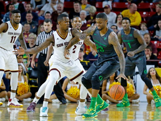 Arizona State Sun Devils guard Gerry Blakes (4) and