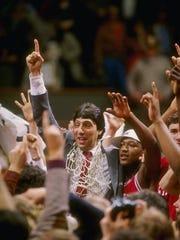 Head coach Jim Valvano of the North Carolina State