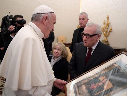 AP VATICAN POPE SCORSESE I ENT VAT