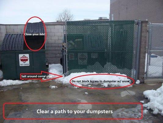 Penn Waste dumpster diagram