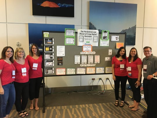 The teachers of Stoy Elementary at the ISTE conference in Denver, Colorado: (from left) Laura Roberts, Brenda Morrow, Laura Dugan, Randi Harris, Mae Valenzuela, Charles Warfield.