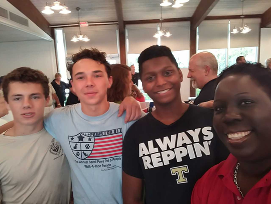 On May 17, Treasure Coast High School AFJROTC cadets participated in the inaugural Homeless Veterans Stand-Down in Fort Pierce, alongside many other organizations.