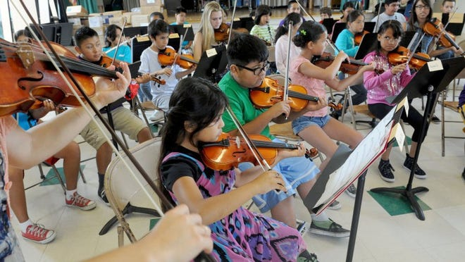 The New West Symphony's Harmony Project summer camp is shown here in 2014 at Sheridan Way School in Ventura.