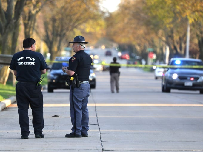 A large police presence on the scene on an officer