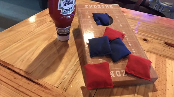 Guests can play tabletop cornhole while at Tailgaters Tavern in Suntree.