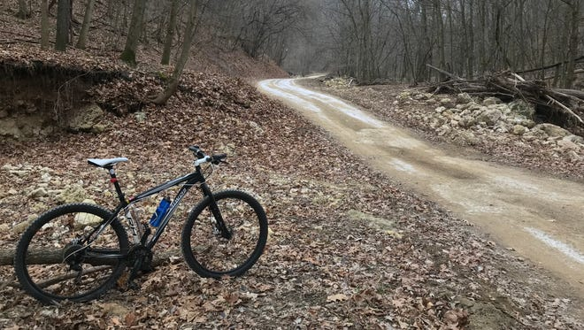 Hilly, rocky, primitive and beautiful, Good-Nuf Hollow Road in Grant County is more than good enough for cycling.